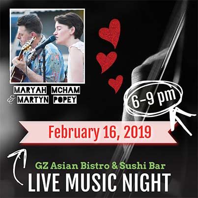 Live Music Night Promotion on February 16, 2019